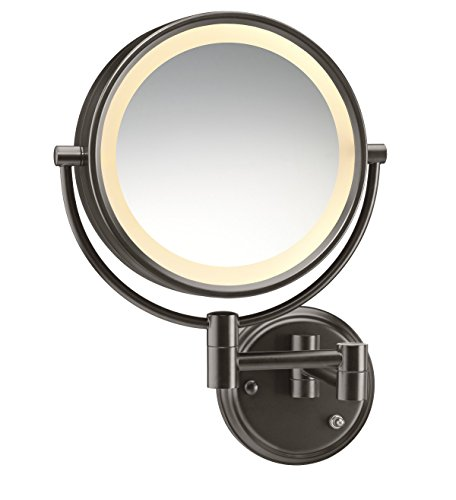 Conair Round Shaped Double Sided Wall Mount Lighted Makeup