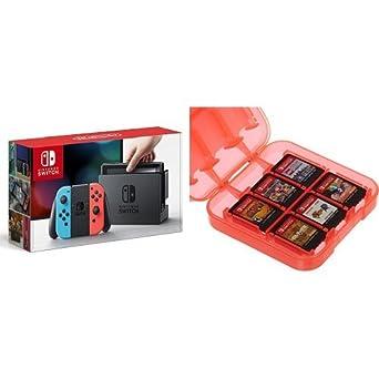 Nintendo Switch - Consola color Azul Neón/Rojo Neón + Funda ...