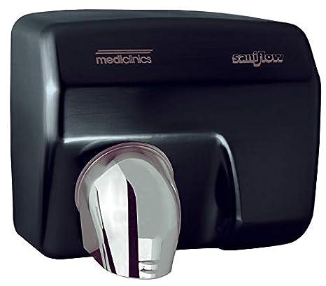 Medic linics 2250 W Automático secador de manos pared montaje Acero Negro 68 Db: Amazon.es: Hogar