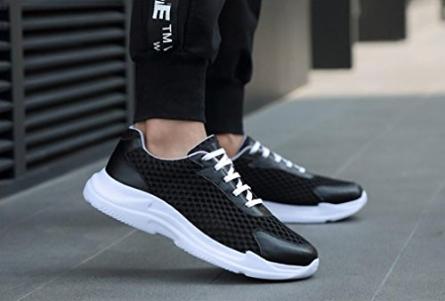 Shoes Sport Mesh Mode Bleu Hemei Mens Men's Black Black Chaussures Légères Automne Printemps 38 Comfort Casual Sneakers RFSwq5