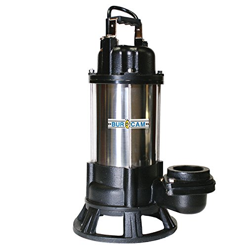 BurCam 400418T Heavy Duty Grinder Pump, 1 hp, 115V