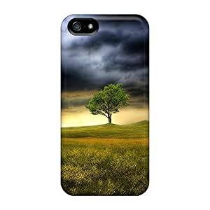 Durable Defender Case For Iphone 5/5s Tpu Cover(the Storm Clouds Gather)