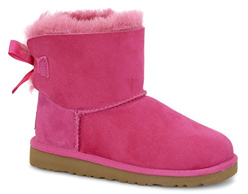UGG Australia Girl's Mini Bailey Bow Cerise Sheepskin Boot 1