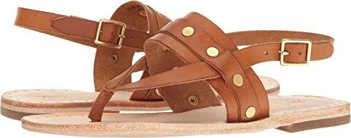 - FRYE Women's Avery Stud Thong Flat Sandal Tan 9 M US