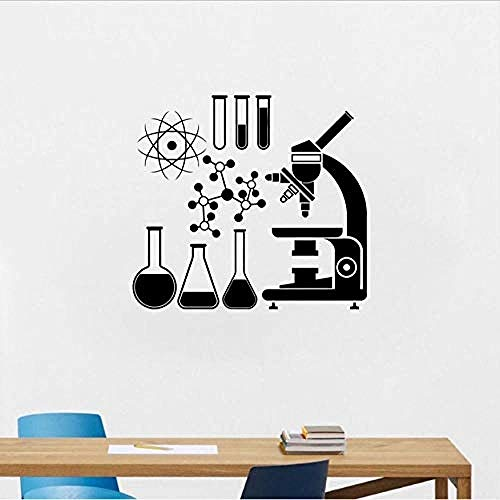 3D Wall Stickers  Microscope Scientist Vinyl Wall Stickers Chemical Decal Laboratory Waterproof Wall Decoration Boy Girl Room Classroom S511 61 56Cm Customizable