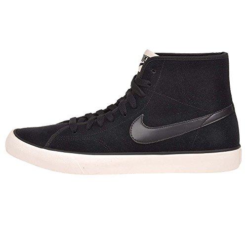 Nike Femmes Primo Court Mi Suede Cheville-haute Sneaker De Mode Noir / Noir-voile