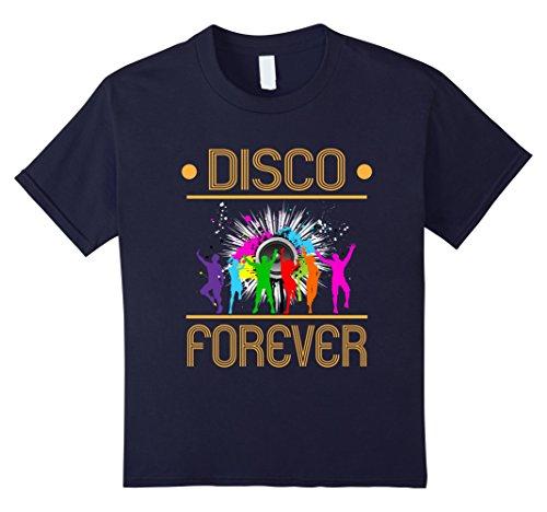 Kids Disco Forever 80' 90' Lover Hipster Retro Vintage Dance Tee 12 Navy