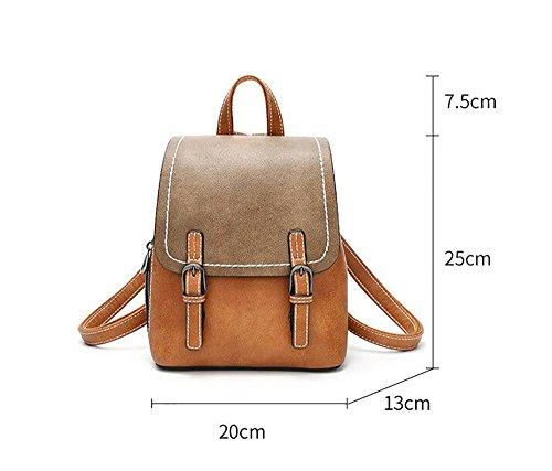 de multifonctionnel main sac 13 Sac sac à décontracté 25cm la dos PU cuir des 20 en à mode souple femmes dPnFPx