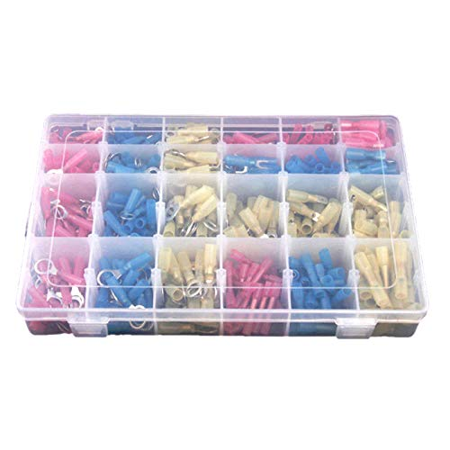 Nrpfell 480pcs Heat Shrink Wire Connector Assortment Automotive Marine Kit:
