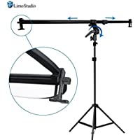 LimoStudio 26 - 48 inch Swivel Head Reflector Arm Support Holder with Photo Light Stand Tripod, Easy Spring Clip Install, Mount on the Light Stand Tripod, Photo Studio, AGG2057V2
