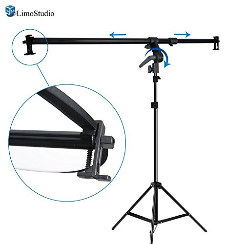 LimoStudio 26-48 inch Swivel Head Reflector Arm Support Holder with Photo Light Stand Tripod, Easy Spring Clip Install, Mount on the Light Stand Tripod, Photo Studio, AGG2057V2 by LimoStudio