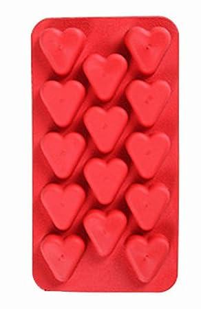 BID Tarjeta de 14-cavidades con forma de corazón para tartas/Adorable diseño de hielos y ...