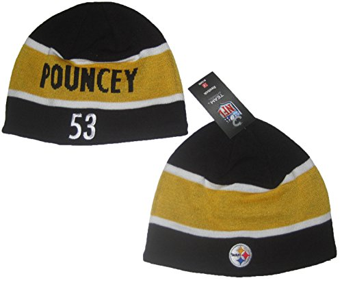 Reebok Pittsburgh Steelers Maurkice Pouncey #53 NFL Players Team Apparel Knit Beanie Hat ()