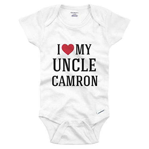 I Heart My Uncle Camron: Infant Gerber Onesie White