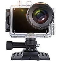 HULKER 007 Waterproof Action camera WIFI 12MP 1080P 30fps underwater 45M 1100mah battery 120Degree Wide angle 1.5inch screen including free sport accessories ( Black)