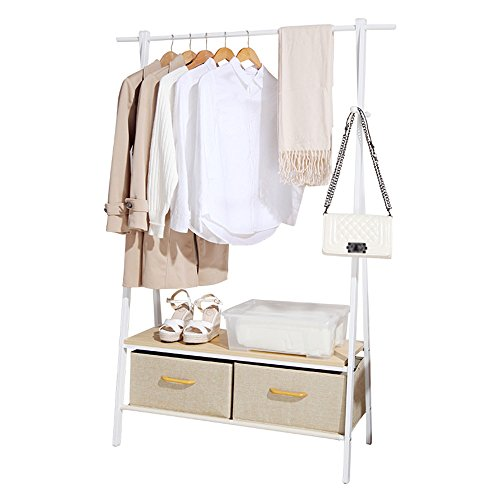 Multi-function coat rack: drying rack, storage box, shoe rack, suitable for indoor and outdoor use by Shelf-xin