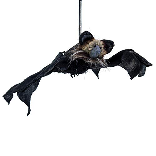 Halloween Haunters Animated Hanging Flying Black Bat with 34