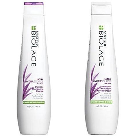 Matrix Biolage Ultra Hydrasource Shampoo & Conditioning Balm Duo, 13.5 Fluid Ounce (Matrix Biolage Conditioning)