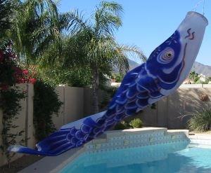 Carp Windsock, Koinobori Blue 79 inch #KN005
