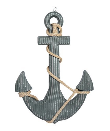 18 Inch Wood Look Boat Anchor With Crossbar (Decor Outdoor Anchor)