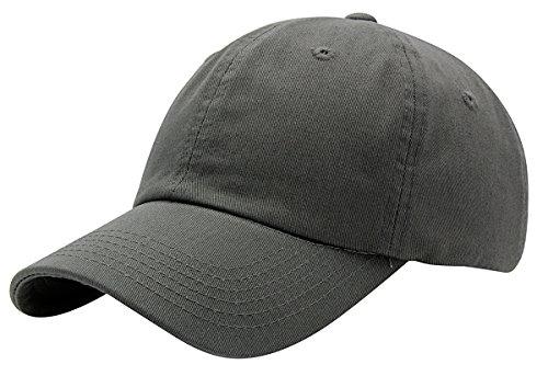 (Top Level Baseball Cap for Men Women - Classic Cotton Dad Hat Plain Cap Low Profile, DGY Dark Grey )