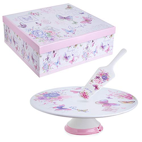 - London Boutique Porcelain Ceramic Cake Stand Plate 12