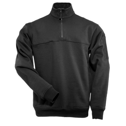 - 5.11 Tactical Job Shirt 1/4 Zip,Black,Medium