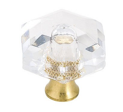 Crystal Amerock (Amerock BP733CS Traditional Classics Knob, 1-3/16-Inch, Crystal)