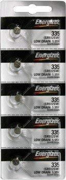 Energizer Batteries 335 (SR512SW) Silver Oxide Watch Battery. On Tear Strip (Pack of 5)