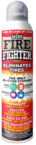 Mini Firefighter MFF01 Multi Purpose 4-in-1 Fire Extinguisher Eliminator for Gasoline, Kitchen Grease, Oil, Electric and Wood Fires. Home (Kitchen Grease)