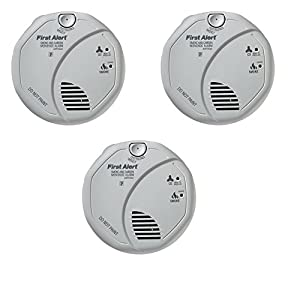 First Alert SCO5CN Battery Operated Combination Carbon Monoxide/Smoke Alarm - 3 Pack