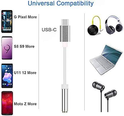 Amazon.com: Fukep USB C to 3.5mm Audio Adapter, USB Type C ...
