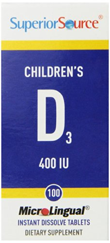 Superior Source Children's Vitamin D 400IU Tablets, 100 Count