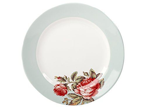 Toile Porcelain Plate (V&a Toile Rose Chintz Fine China Side Plate)
