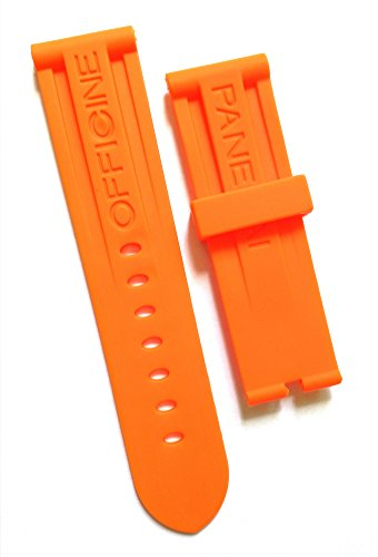 Orange 24mm OEM style Silicone Rubber Watch Strap Band for Panerai