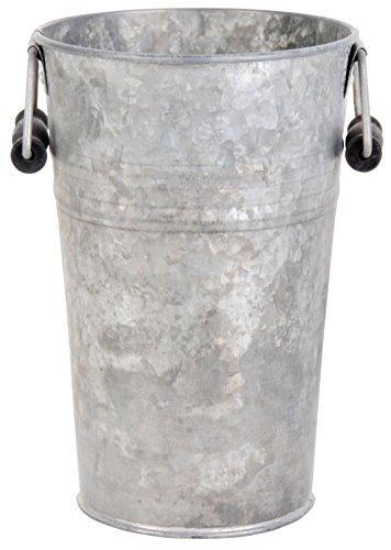 Esschert Design Old Zinc Flower Pot with Handles, - Zinc Pot Flower