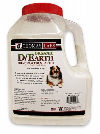 THOMAS LAB 015TL03-3 D-Earth - Diatomaceous- , 3 lbs. Powder