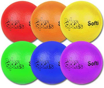 Palos Sports 6.3'' Softi TuffSKIN Foam Dodgeball Set of 6 by Palos Sports