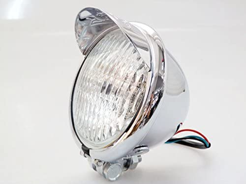 Fatexpress Moto en m/étal Chrome Head Light Lampe Phare capuchon pour Suzuki Honda Kawasaki Yamaha Harley Dyna Electra Glide Road King Softail Sportster 1200/883/XL personnalis/és Choppers Bobber Touring v/élos