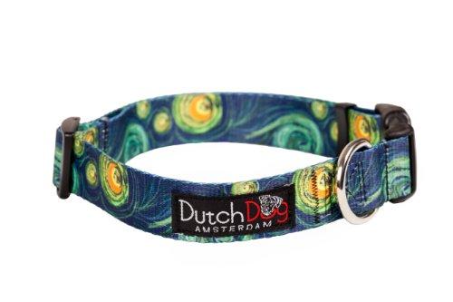 Dutch Dog Amsterdam Eco Friendly Van Gogh Dog Collar, 15 to 20-Inch, Medium