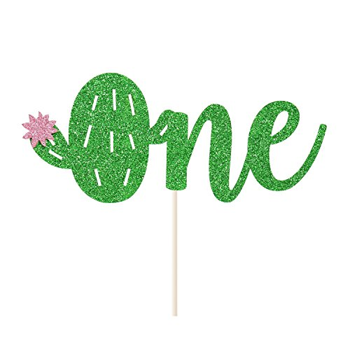 Cactus One Cake Topper Mexican First Birthday Succulent Theme Fiesta Cake Decoration Double -