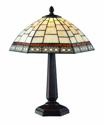 Z-lite Prairie Garden (Z-Lite Z14-35TL Prairie Garden One Light Table Lamp, Metal Frame, Chestnut Bronze Finish and Multi Color Tiffany Shade of Glass)