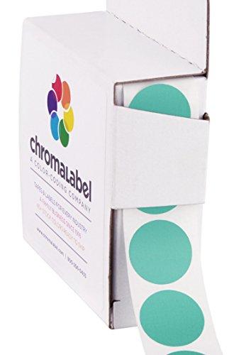 "0.75"" Aqua Color-Code Dot Labels | Permanent Adhesive, 3/4 in. — 1,000/Dispenser Box"