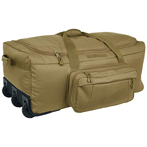 Mercury Tactical Gear Code Alpha Mini Monster Wheeled Deployment Bag, Basic, Coyote