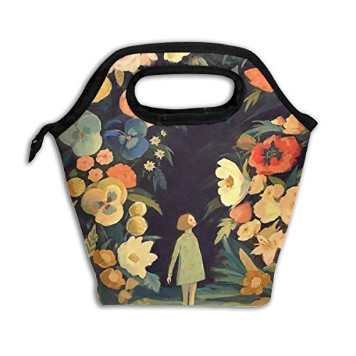 Girl In The Night Garden Lunch Tote Bag Insulated Reusable Lunch Cooler Holder Box Carry Case Handbags Tote