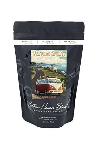 Ventura  California   Vw Van Cruise  8Oz Whole Bean Small Batch Artisan Coffee   Bold   Strong Medium Dark Roast W  Artwork