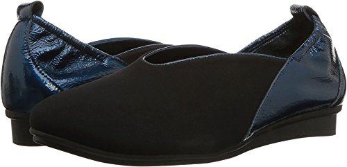Arche Womens Nino Slip On Nubuck Shoe Noir / Neptune