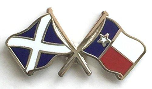 Écosse & Texas Drapeaux d'amitié avec Pin's (épinglette Badge en émail