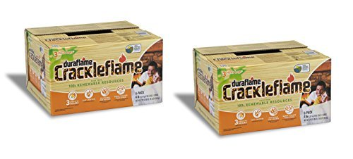 Duraflame 2-boxes 4637 6-pack Crackleflame Firelogs, 4-pound (2) by Duraflame