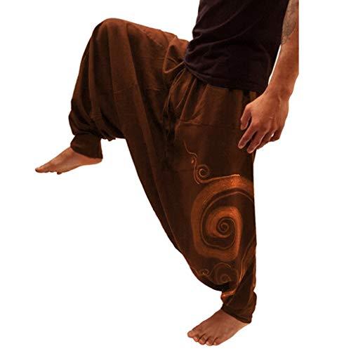 Ximandi Mens Elastic Waist Casual Lounge Pajama Jogger Super Soft Ethnic Yoga -
